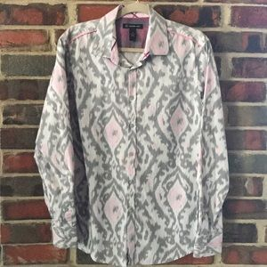 Men's Pink & Gray Dress Shirt